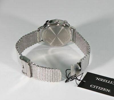 Citizen-Quartz-Black-Dial-Chronograph-Mesh-Bracelet-Mens-_1